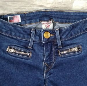 True Religion Skinny Ankle Zip Jean 24